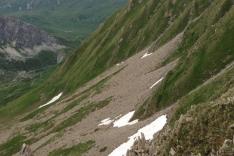 terrible descente du passeur de Pralognan
